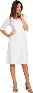 Sukienka Style z długim rękawem z dzianiny midi