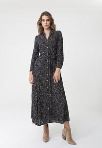 Sukienka born2be maxi z kołnierzykiem w stylu casual