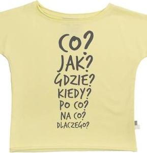 Żółta koszulka dziecięca M-art-a-baby z krótkim rękawem