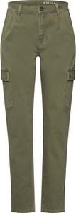 Spodnie Noisy May w militarnym stylu z bawełny