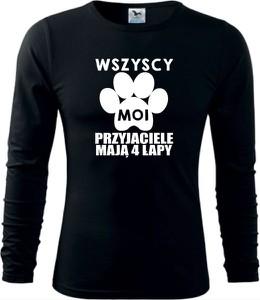 Bluzka TopKoszulki.pl z długim rękawem z okrągłym dekoltem