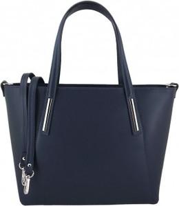 Niebieska torebka Barberini`s ze skóry duża