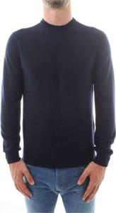 Niebieski sweter Emporio Armani z dzianiny