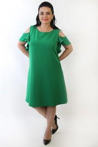 Zielona sukienka Oscar Fashion trapezowa