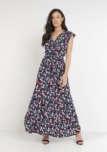 Sukienka born2be z dekoltem w kształcie litery v z krótkim rękawem w stylu boho