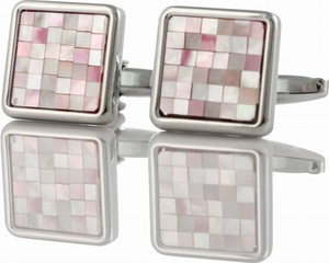 Em Men`s Accessories Spinki do mankietów kwadratowe róż EM 57