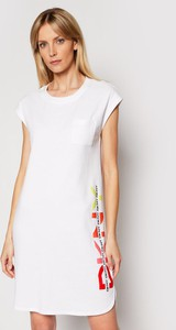 Sukienka DKNY prosta z okrągłym dekoltem mini