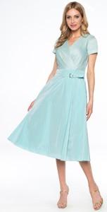 Sukienka Lavard midi z dekoltem w kształcie litery v z tkaniny