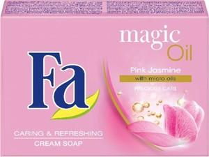 Fa Magic Oils mydło w kostce do każdego typu skóry kremowe Pink Jasmine 90 g