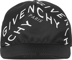 Czarna czapka Givenchy z nadrukiem