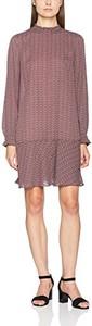 Brązowa sukienka amazon.de z długim rękawem