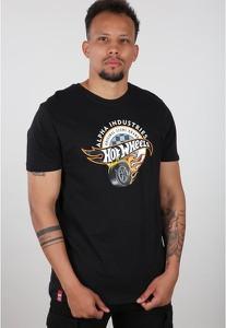 T-shirt Alpha Industries z nadrukiem w młodzieżowym stylu z bawełny