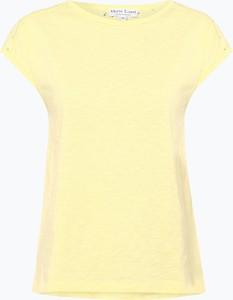 Żółty t-shirt Marie Lund z bawełny z krótkim rękawem