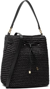 Czarna torebka Ralph Lauren ze skóry