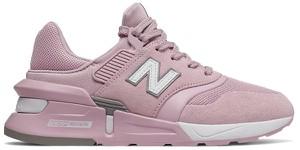 Buty sportowe New Balance sznurowane w młodzieżowym stylu z zamszu