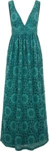 Zielona sukienka Y.A.S maxi z dekoltem w kształcie litery v