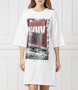 Sukienka DKNY prosta z długim rękawem