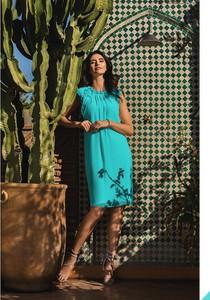 Sukienka Francesca Antonucci mini z okrągłym dekoltem