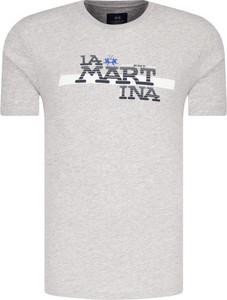 T-shirt La Martina w młodzieżowym stylu z krótkim rękawem