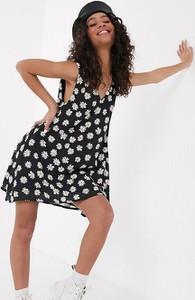 Czarna sukienka ANOTHER REASON mini asymetryczna