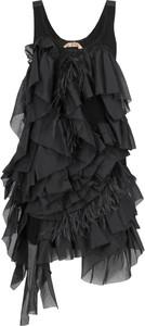 Sukienka N21 z jedwabiu asymetryczna na ramiączkach