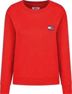 Czerwona bluza Tommy Jeans w stylu casual krótka