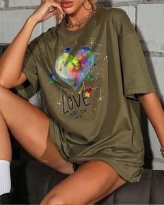T-shirt Kendallme z krótkim rękawem z bawełny
