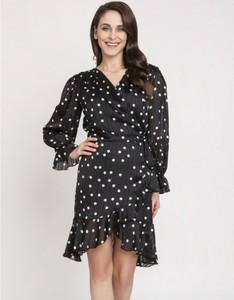 Sukienka Milena Płatek mini w stylu casual z dekoltem w kształcie litery v