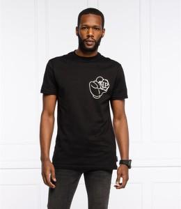 Czarny t-shirt Philipp Plein z krótkim rękawem w sportowym stylu