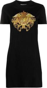 Sukienka Versace Jeans mini z okrągłym dekoltem z bawełny