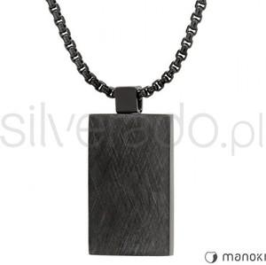 Silverado czarny naszyjnik męski ze stali szlachetnej 316l 77-wa286b