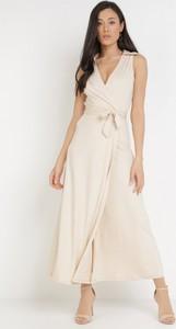 Sukienka born2be z dekoltem w kształcie litery v na ramiączkach maxi