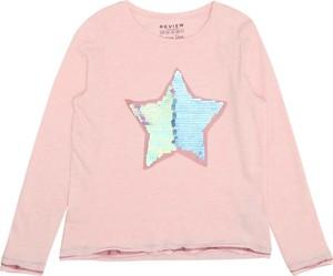 Różowa bluzka dziecięca Review For Kids z dżerseju