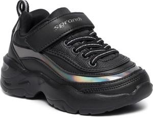 Czarne buty dziecięce zimowe Sprandi sznurowane