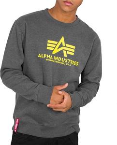 Bluza Alpha Industries w młodzieżowym stylu z nadrukiem