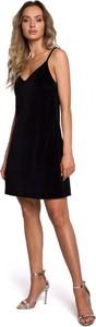 Czarna sukienka MOE z bawełny mini