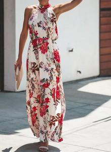 Sukienka Sandbella maxi w stylu boho bez rękawów