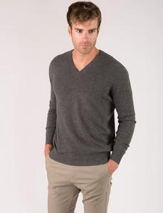 Brązowy sweter Just Cashmere z kaszmiru