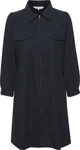 Czarna sukienka Part Two koszulowa z dekoltem w kształcie litery v