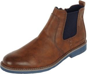 Brązowe buty zimowe Tom Tailor ze skóry ekologicznej