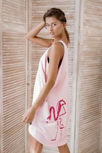 Różowa sukienka ZookiWear z bawełny w stylu casual na ramiączkach