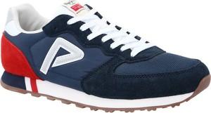 Niebieskie buty sportowe Pepe Jeans ze skóry sznurowane