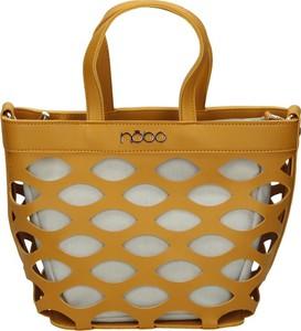 Żółta torebka NOBO w wakacyjnym stylu duża