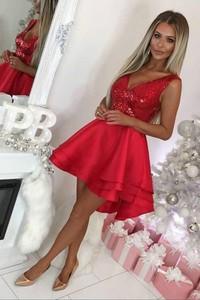 Sukienka Ivet.pl mini asymetryczna