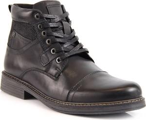 Czarne buty EVENTO ze skóry