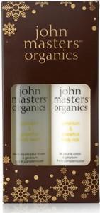 John Masters Geranium and Grapefruit | Zestaw do pielęgnacji ciała: żel pod prysznic 236ml + mleczko do ciała 236ml