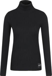 Czarny sweter Calvin Klein w stylu casual z wełny