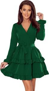 Sukienka Ptakmoda.com z długim rękawem kopertowa mini