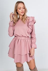 Sukienka ZOiO.pl w stylu casual rozkloszowana z okrągłym dekoltem