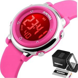 Zegarek dziecięcy SKMEI 1100 DATOWNIK LED różowy